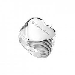 Anello cuore in argento e...
