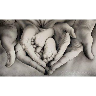 FAMILY HEART BIANCO NERO