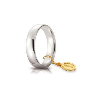 Fede Comoda In Oro Bianco 5mm