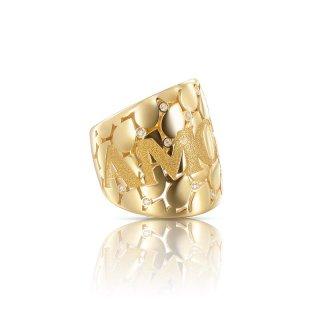 Anello in Oro Giallo Diamanti